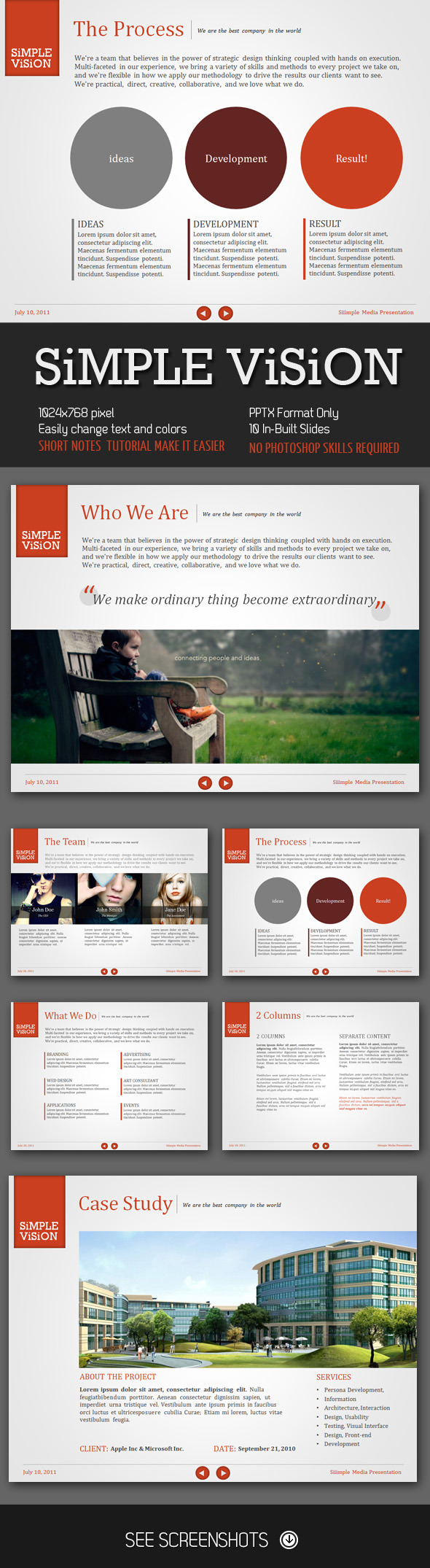 Simple Vision PowerPoint Presentation - Creative Powerpoint Templates