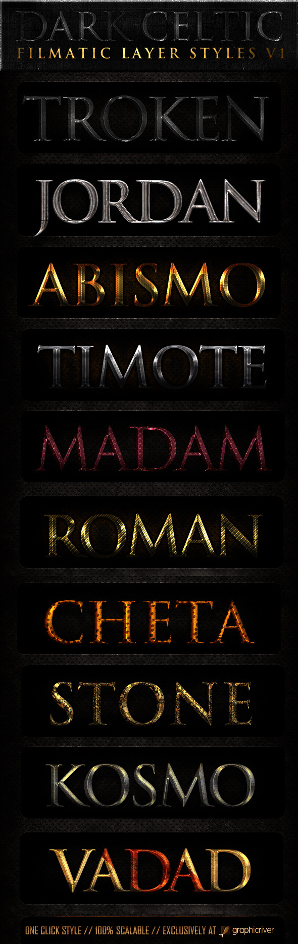 Dark Celtic Filmatic Styles - Text Effects Styles