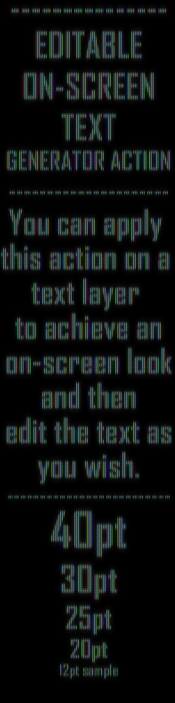Editable On-Screen Text Effect Generator Action