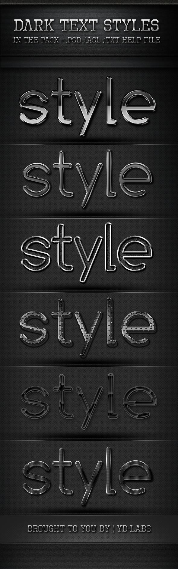 Dark Text Styles - Photoshop Add-ons