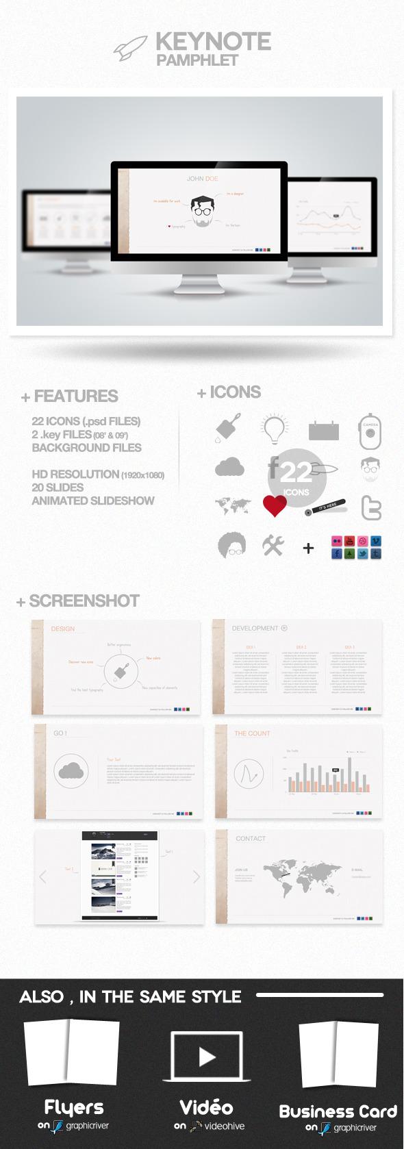 Pamphlet Presentation - Creative Keynote Templates