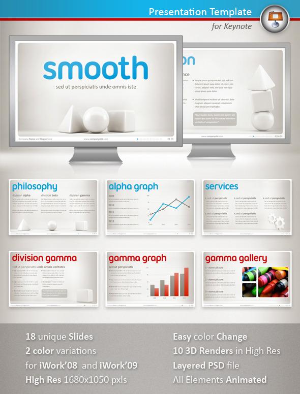Smooth Keynote Presentation - Keynote Templates Presentation Templates