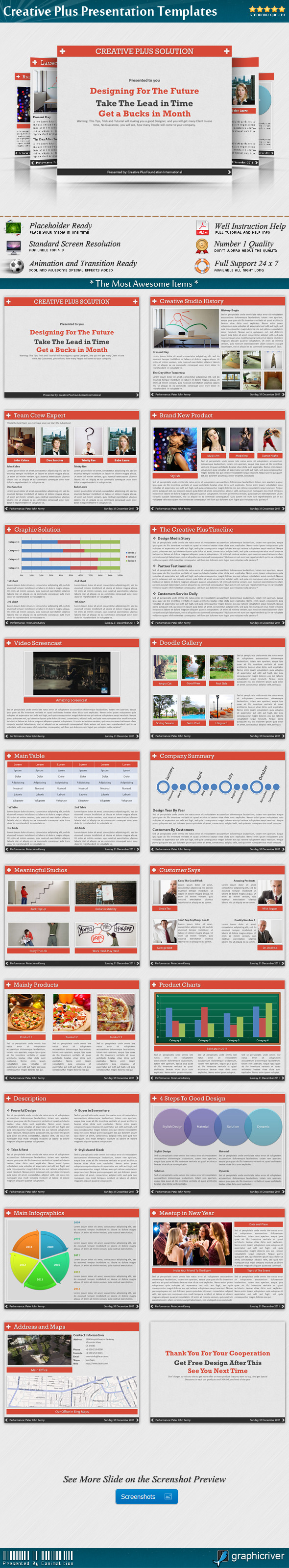 Creative Plus Presentation Templates - Creative PowerPoint Templates