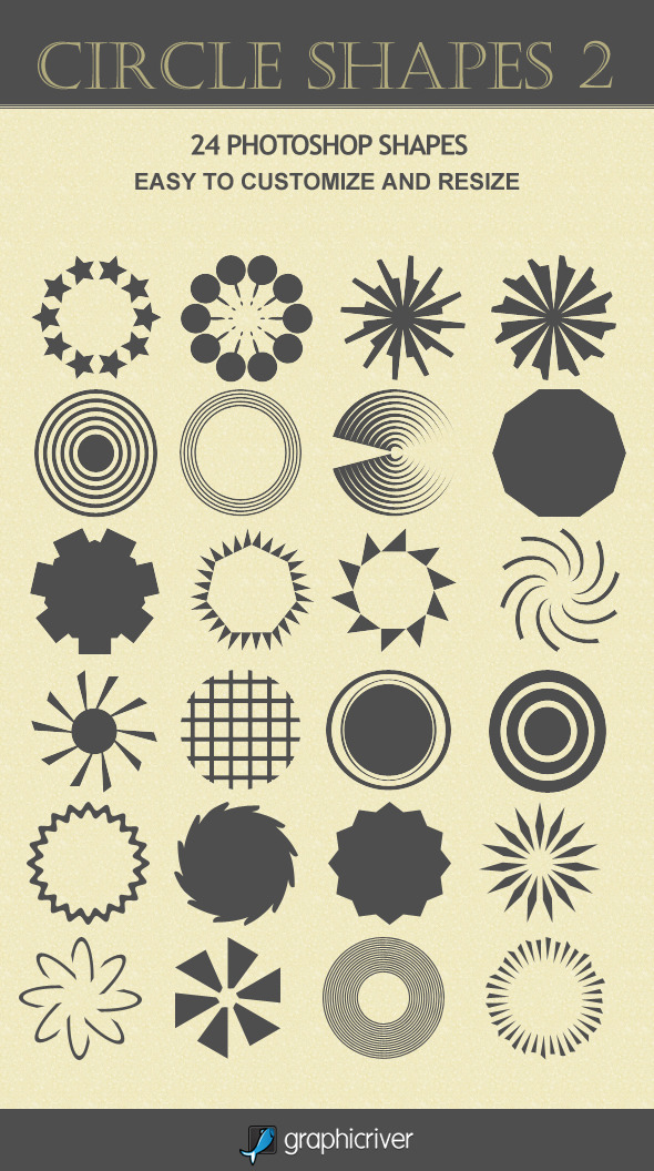 Circle Shapes 2 - Photoshop Add-ons