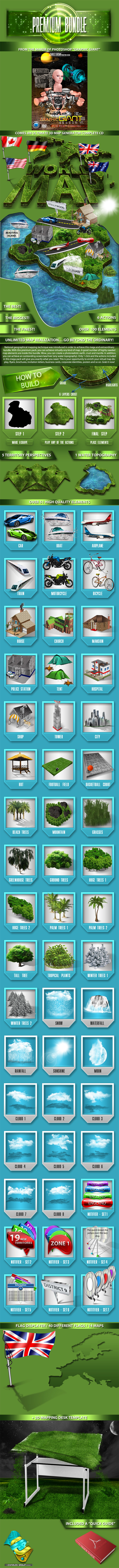 World 3D Map Generator - Premium Bundle - Utilities Actions