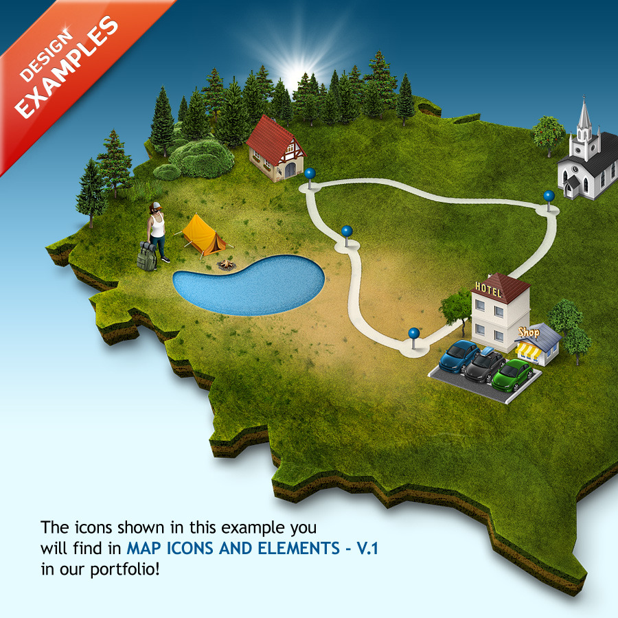 3d map generator pro easy routes by orange box for Map designer free
