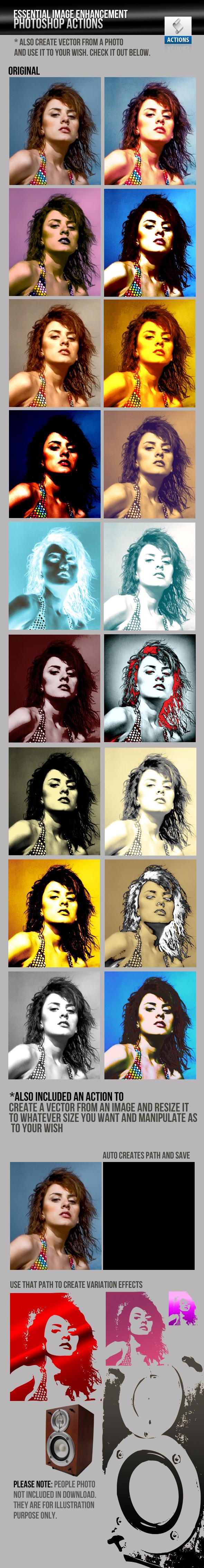 Image Enhancement / Manipulation Photoshop Actions - Photoshop Add-ons