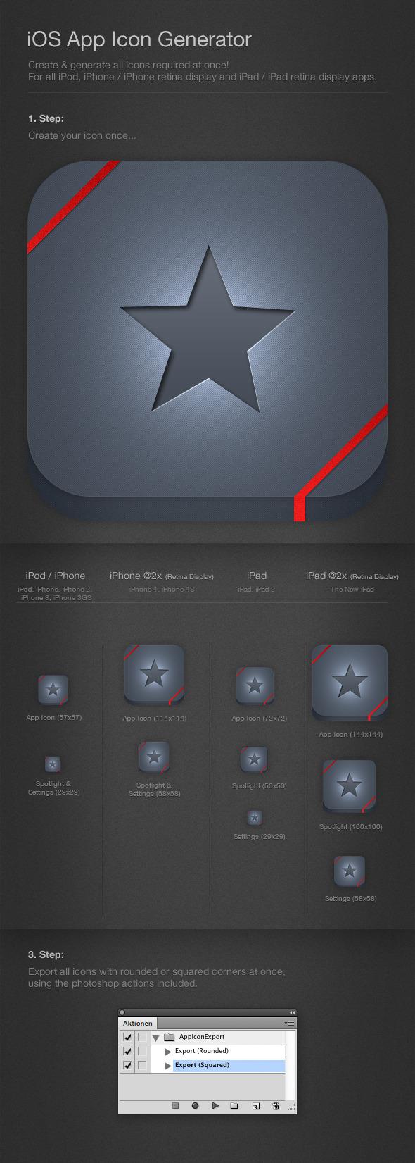 iOS Icon Generator & Exporter
