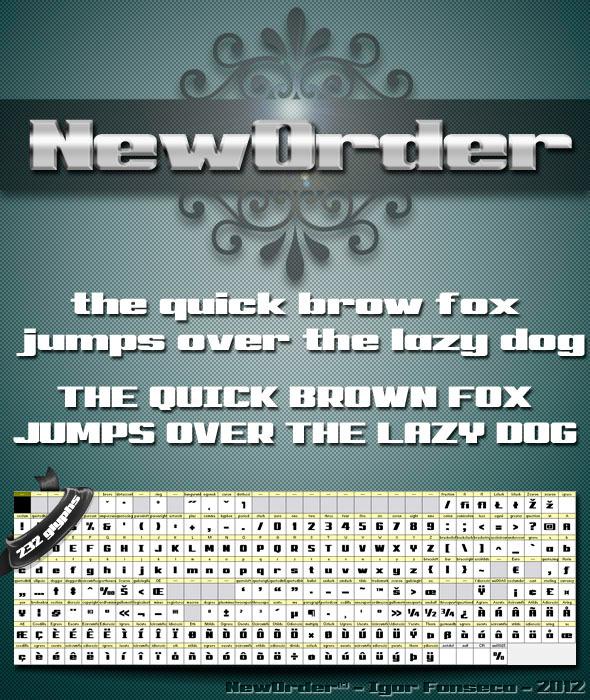 New Order - Sans-Serif Fonts