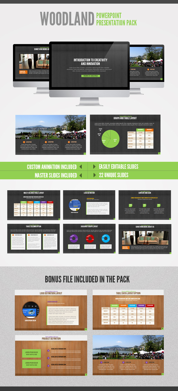 Wood Land  Powerpoint - Powerpoint Templates Presentation Templates