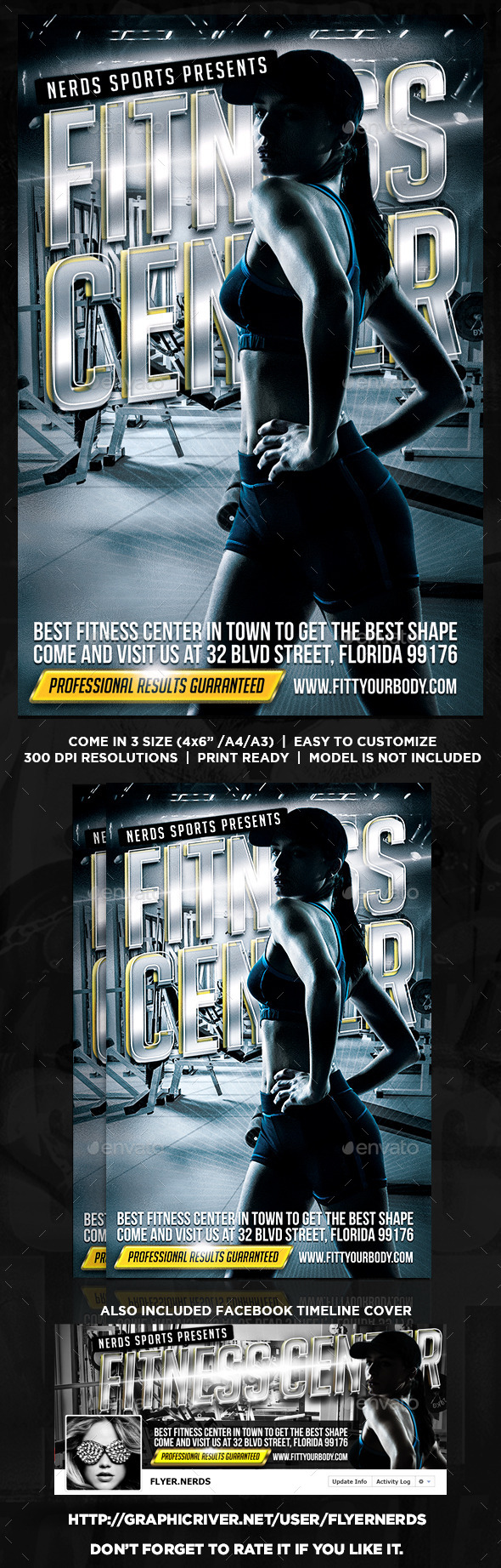 GraphicRiver Fitness Center Flyer 8790631