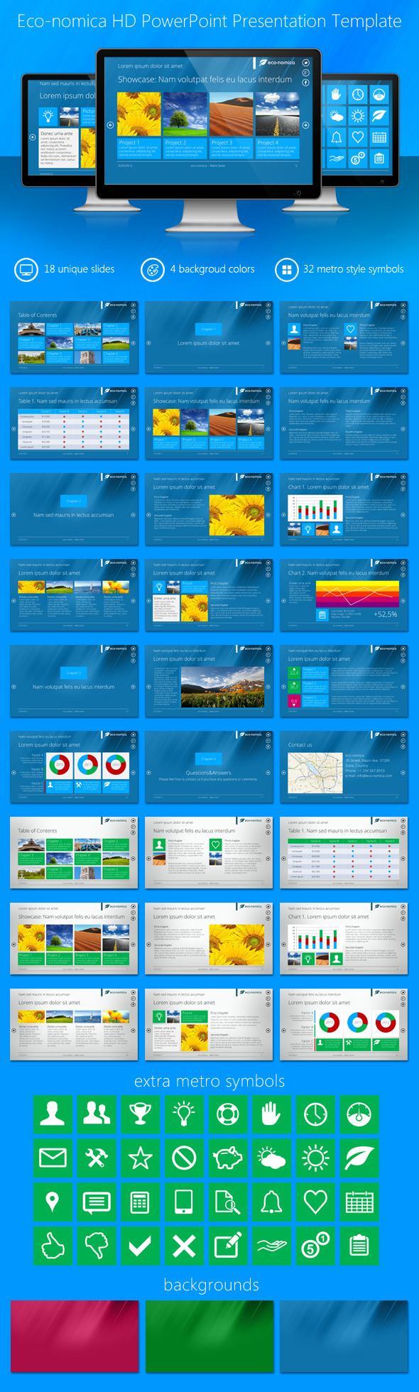 Eco-nomica HD PowerPoint Presentation Template - Business PowerPoint Templates