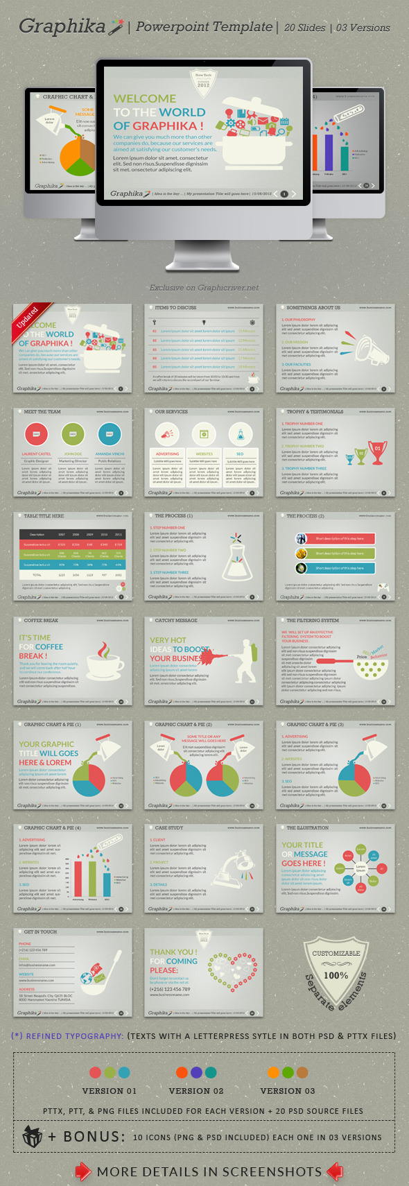 Graphika PowerPoint Template - Powerpoint Templates Presentation Templates