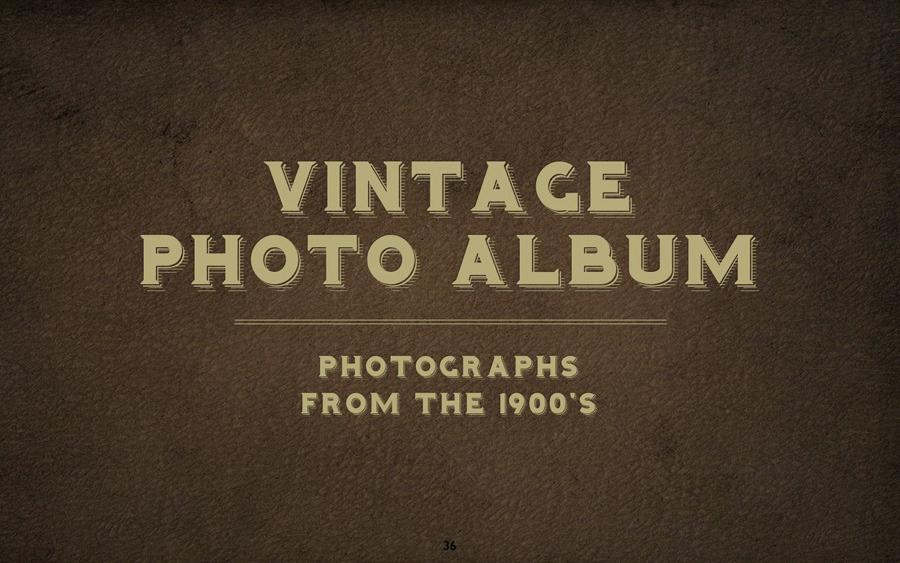 vintage photo album keynote template by 83munkis graphicriver. Black Bedroom Furniture Sets. Home Design Ideas
