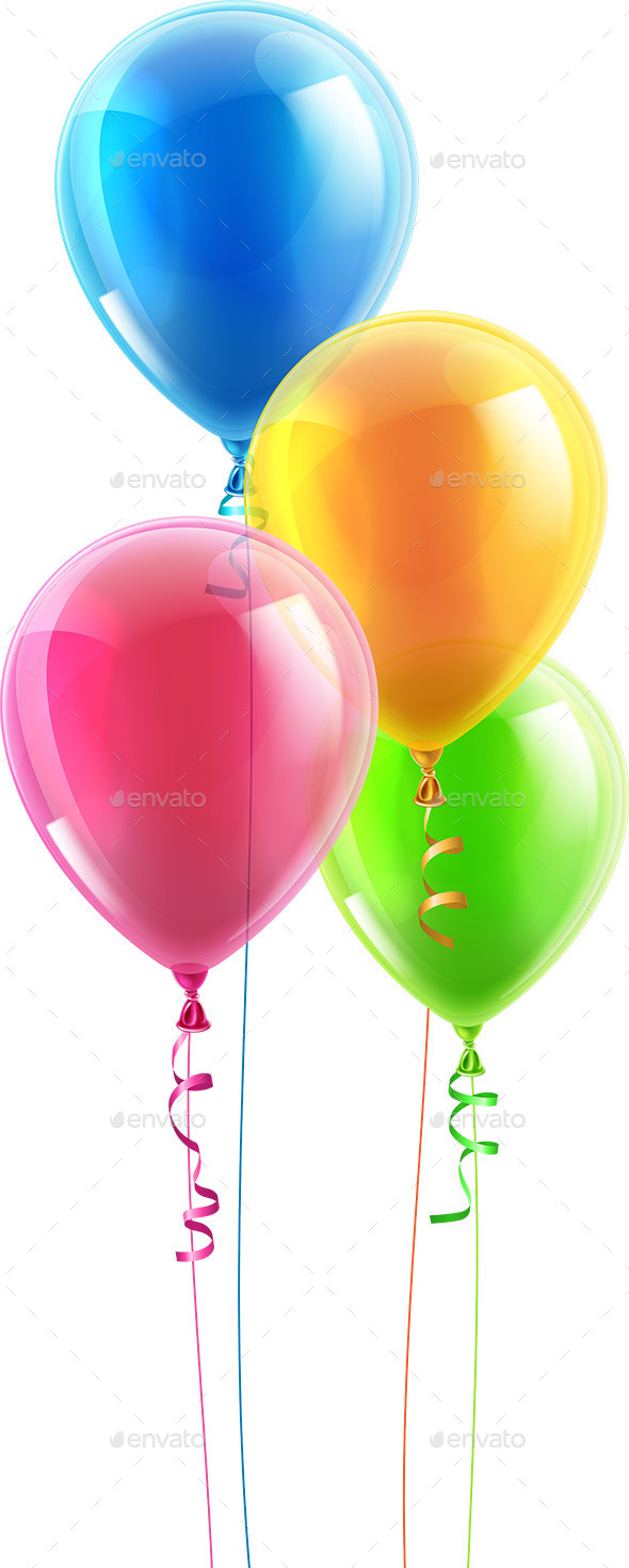 GraphicRiver Birthday Party Balloon Set 8790643