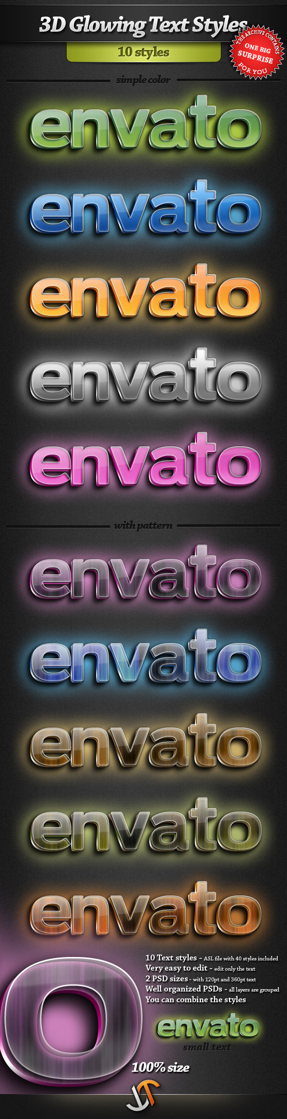 3D Glowing Text Styles - Text Effects Styles