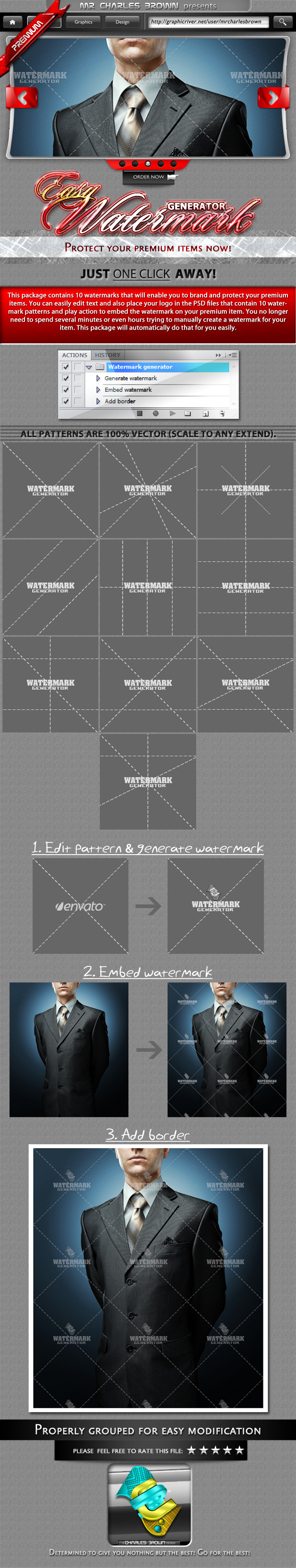 Easy Watermark Generator - Photoshop Add-ons