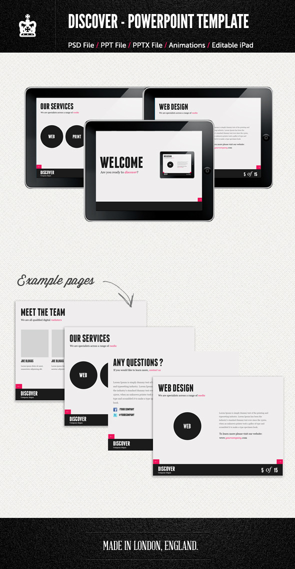 Agency Style PowerPoint Template - Powerpoint Templates Presentation Templates