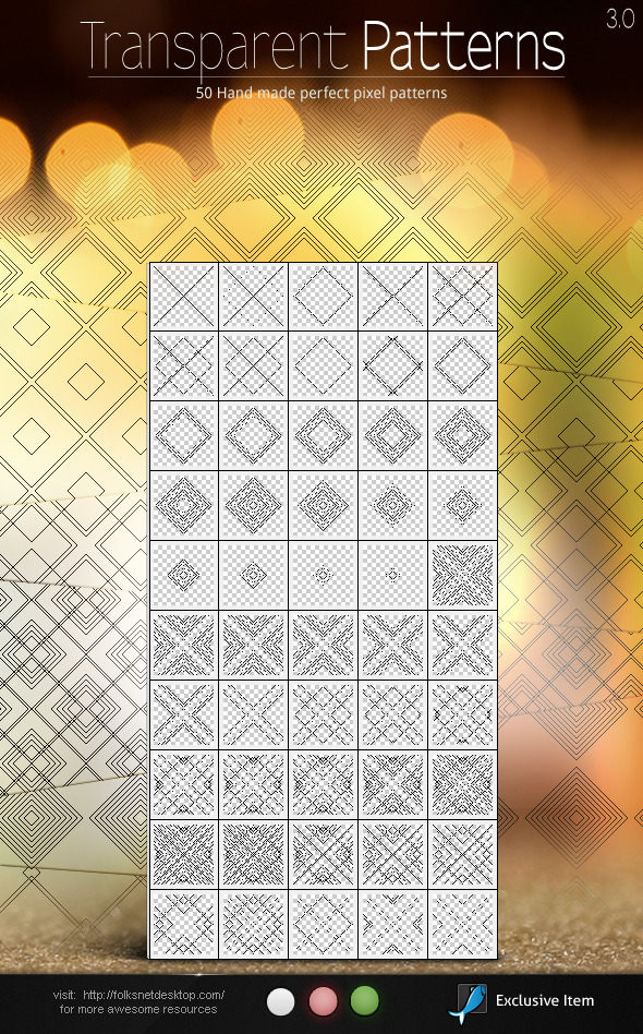 Transparent Patterns 3.0 - Textures / Fills / Patterns Photoshop