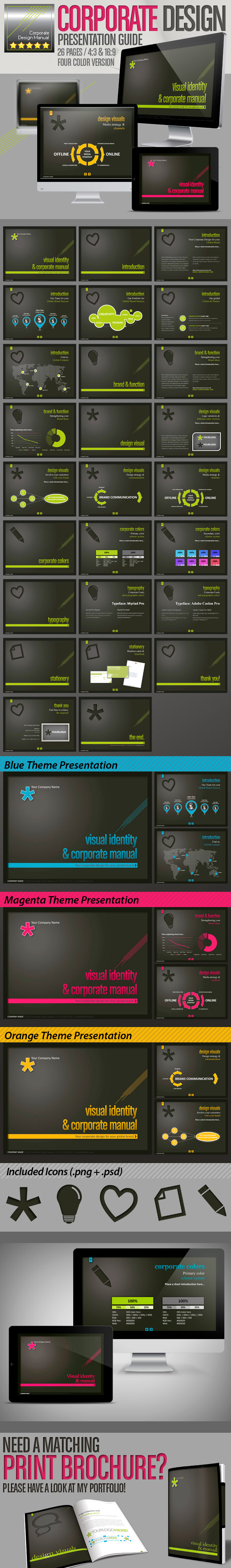 Corporate Design Manual // Design Presentation // - Creative PowerPoint Templates