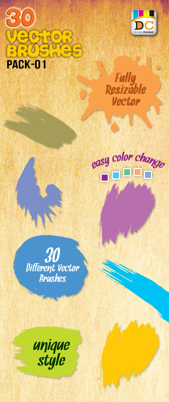 30 Special Vector Art Brushes - Artistic Brushes