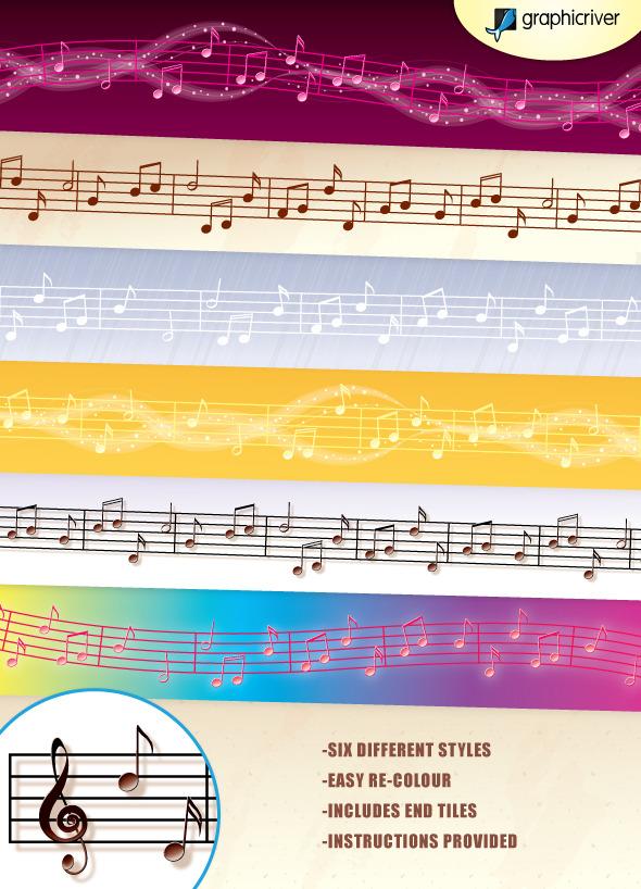 Music Vector Brushes - Brushes Illustrator