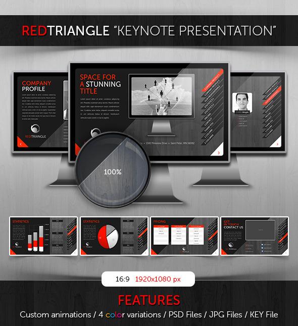 Keynote - RedTriangle Theme - Business Keynote Templates