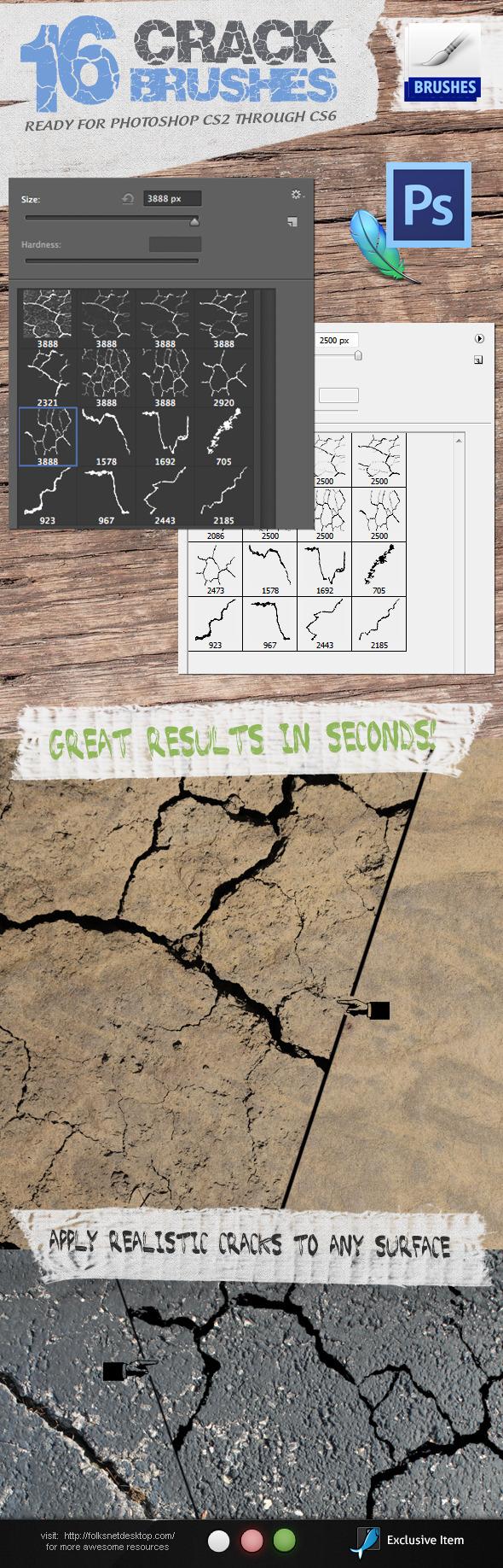 Crack Brushes - Brushes Photoshop
