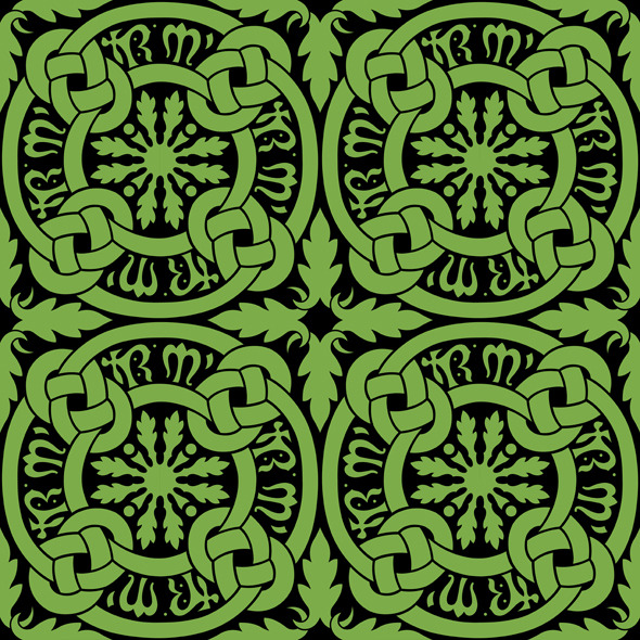 Seamless Celtic Knot Tile Pattern