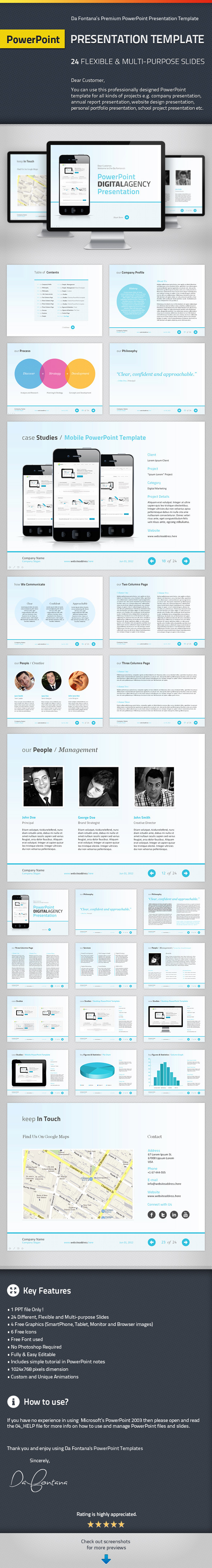 PowerPoint Agency / Personal Presentation Template - Powerpoint Templates Presentation Templates