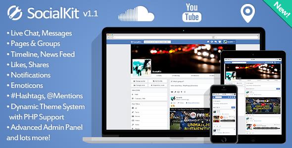 SocialKit: es una plataforma de red social que se compone de varias  características incluyendo Chat en vivo, páginas, grupos, mensajes,  historias, ...