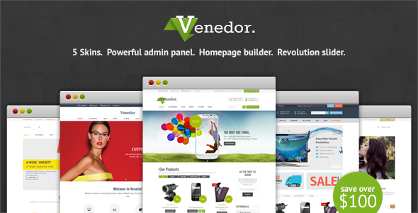 """Venedor – Responsive Premium Prestashop Theme"" – is a great solution for small and medium businesses. A lot of features and functions i"