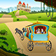 Prince and Princess riding a Wagon - GraphicRiver Item for Sale