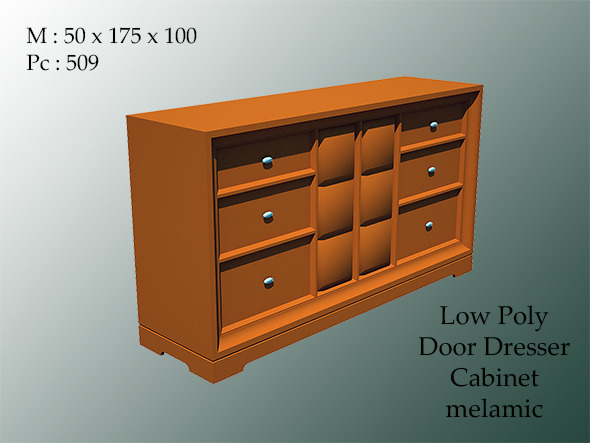 door dresser cabinet melamic - 3DOcean Item for Sale