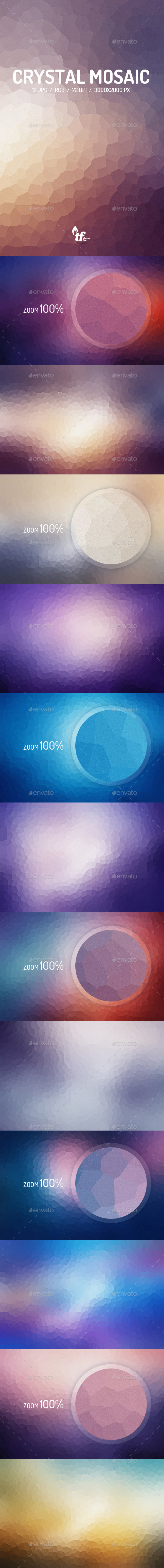 GraphicRiver Crystal Mosaic Backgrounds 8791095