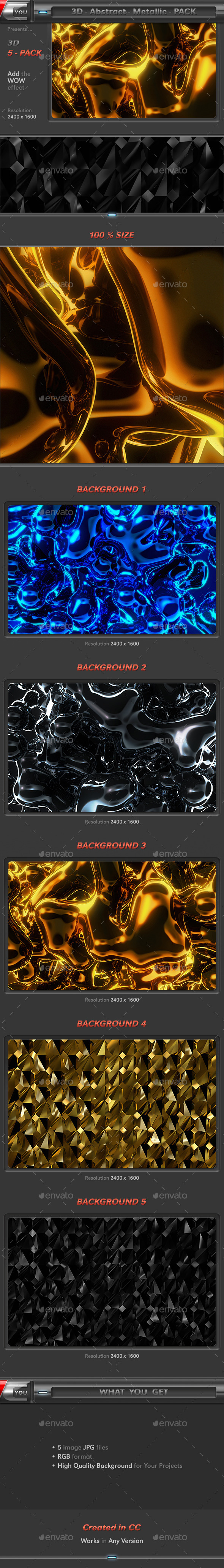 GraphicRiver Abstract Metallic Pack 8791100