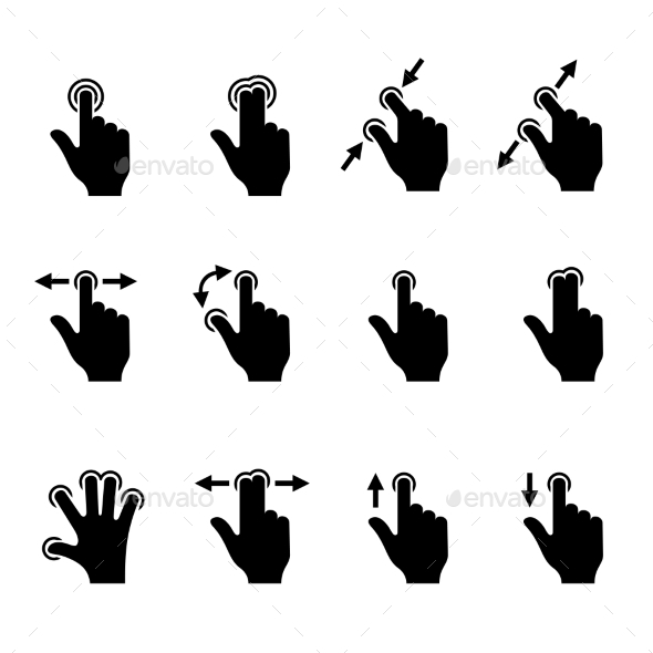 GraphicRiver Gesture Icons Set for Mobile Touch Devices 8791149