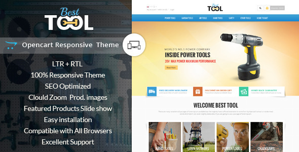 ThemeForest Tools Opencart Responsive Theme 8791183