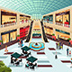 Scene Inside Shopping Mall - GraphicRiver Item for Sale