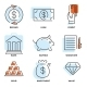 Set of Money and Value Flat Line Vector Icons - GraphicRiver Item for Sale