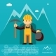 Mountain Worker with Pick and Sack of Gold - GraphicRiver Item for Sale