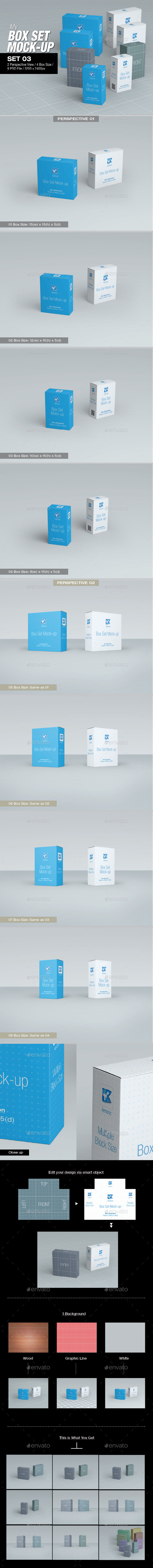 GraphicRiver MyBox Set Mock-Up 03 8791262