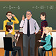 College Students having a Discussion  - GraphicRiver Item for Sale