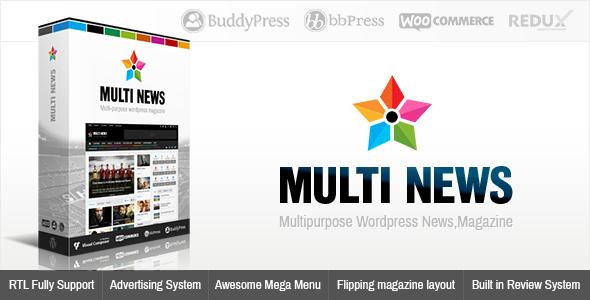Multinews - Multi-purpose Wordpress News,Magazine - News / Editorial Blog / Magazine