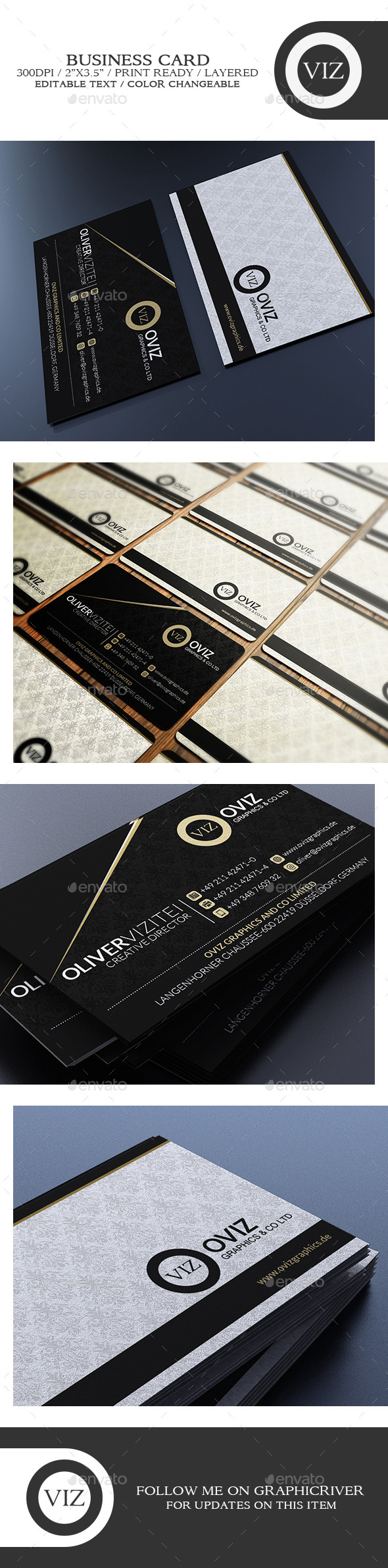GraphicRiver Sleek Business Card 8791405