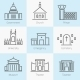Set of Government Buildings Icons - GraphicRiver Item for Sale