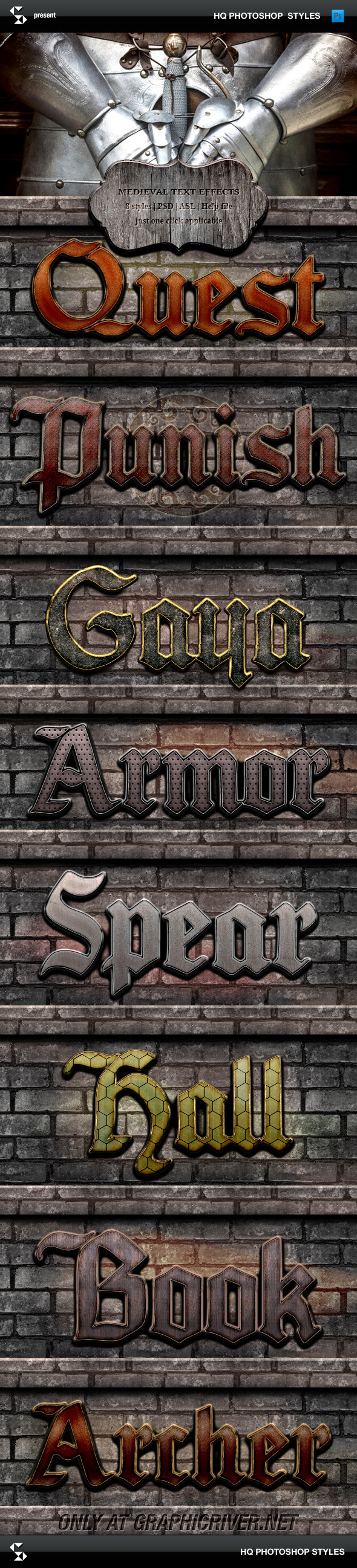 GraphicRiver Medieval Text Effects Medieval Game Styles 8791820