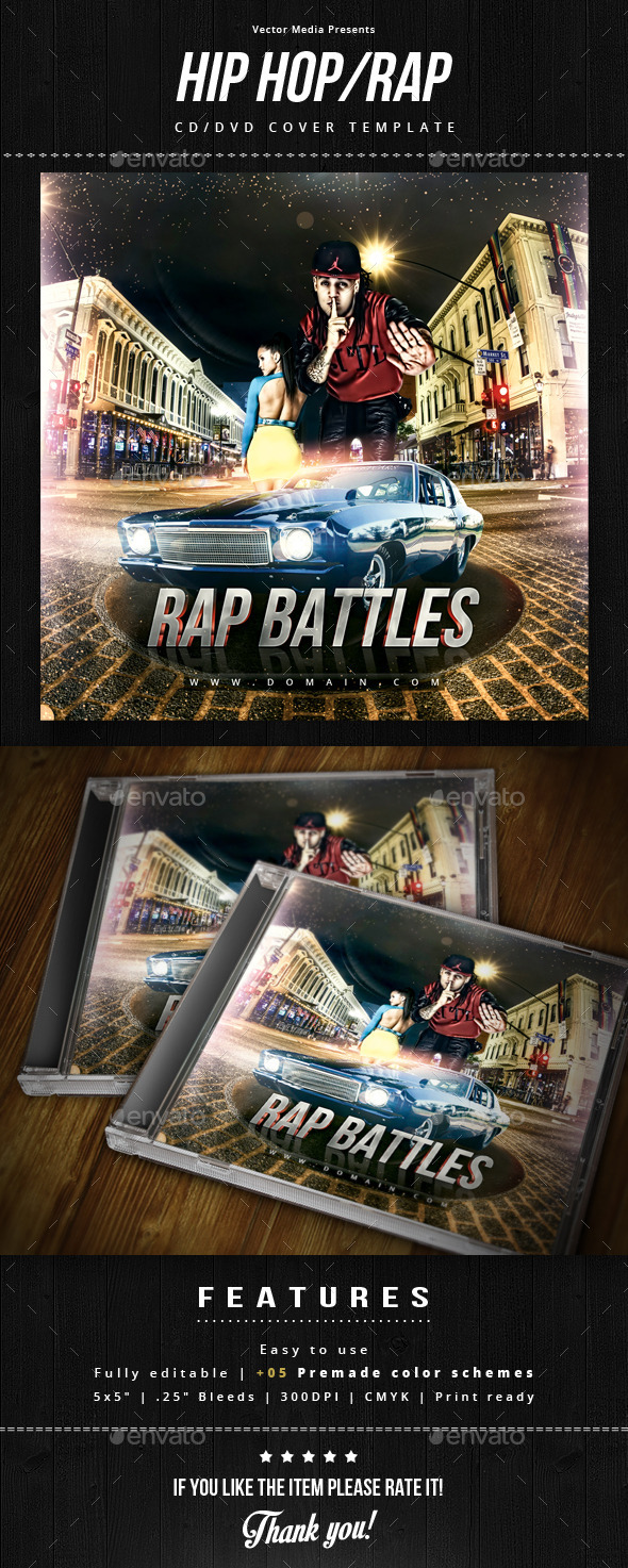 GraphicRiver Hip Hop Rap Cd Cover 8782706