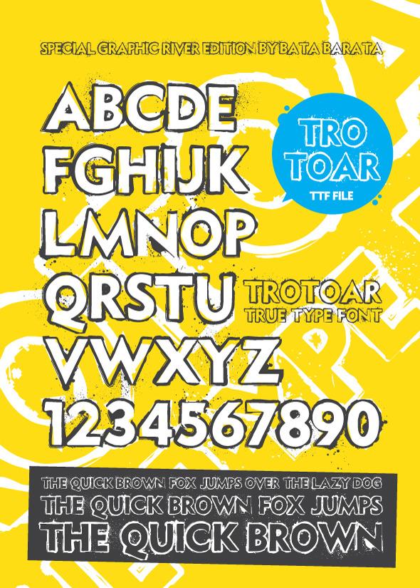 Trotoar True Type Font - Grunge Decorative