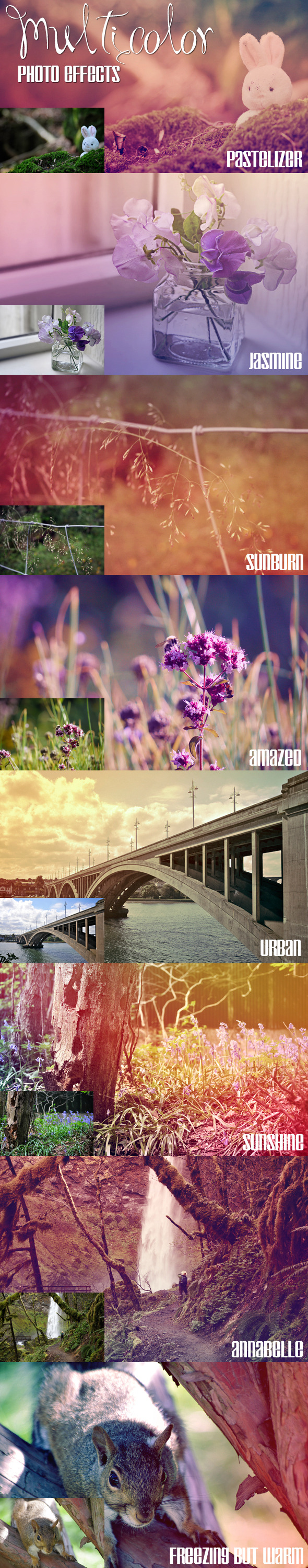 Multicolor Photo Effects - Photo Effects Actions
